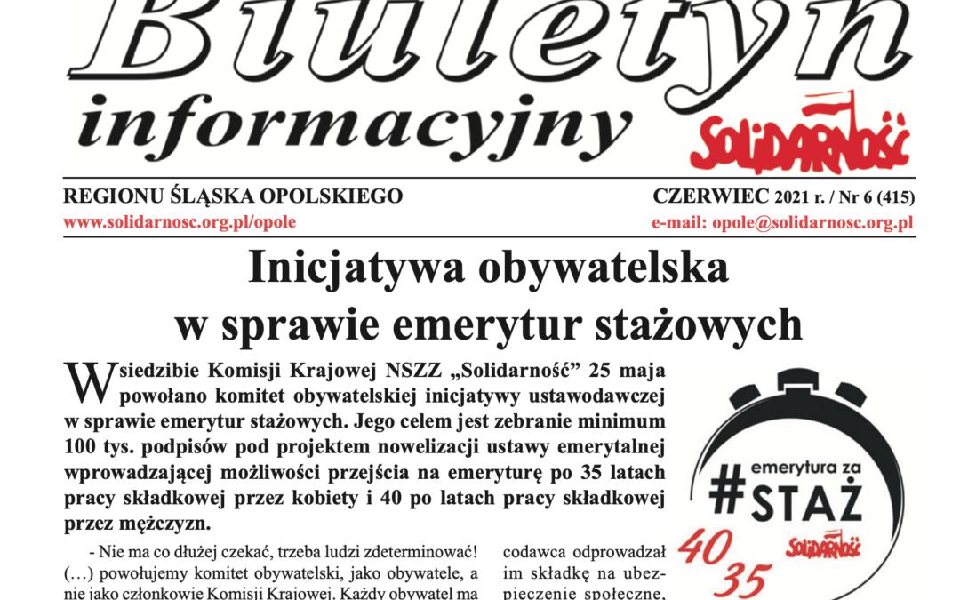 Nowy biuletyn Informacyjny REGIONU ŚLĄSKA OPOLSKIEGO, Czerwiec 2021